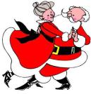 Dancing Mr and Mrs Santa Clause